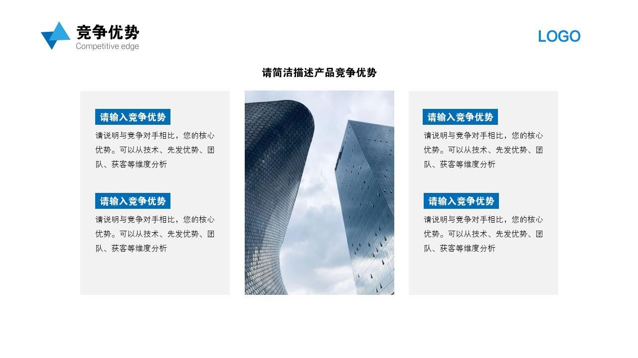 科技環保智能回收垃圾分類項目創業商業計劃書PPT模板-競爭優勢